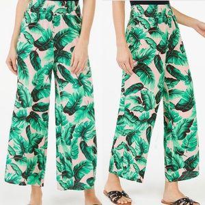 Scoop Cropped Wide Leg Smocked Waist Pants XL
